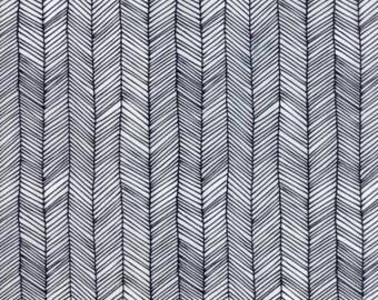 Catnip- Kitten Lines- White- Gingiber- Moda Fabrics