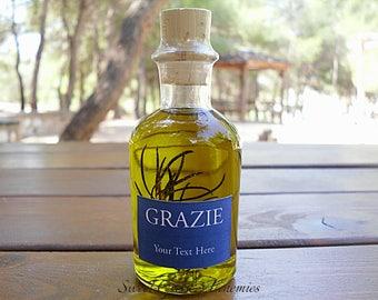 125 pcs Italian Style Olive Oil Favors (70ml/ 2.4oz), Olive Oil Wedding Favors, Olive Oil Baby Shower Favors, Olive Oil Bridal Shower Favors