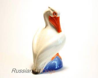 Pelican porcelain figurine,  statue