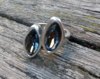50 style ring one, grey crystal ring