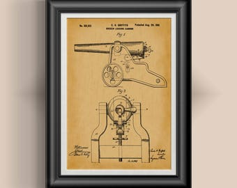Winchester Cannon Patent Print Winchester Gun Art Civil War Art Civil War Artwork Civil War Weapon Poster Gift for Military Veteran PP 3060