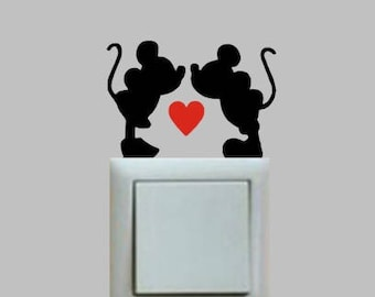 Mickey Mouse & Minnie Mouse novely light/wall sticker
