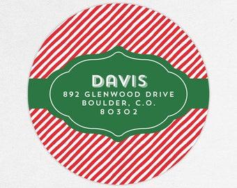 24 HOUR DIGTIAL FILE, Christmas Return Address Labels, Holiday Return Address Labels, Christmas Address Stickers, Holiday Address Labels