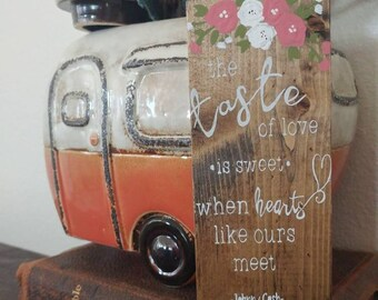 Mini Ring of Fire Lyrics Wooden Sign