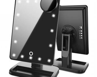 Touch Vanity Pro Mirror with Bluetooth - Black