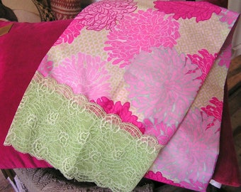 Scarf, scarf, cotton voile and lace