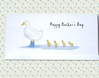 Mother Duck and Babies - Mother's Day Greetings Card - Cute and Unique