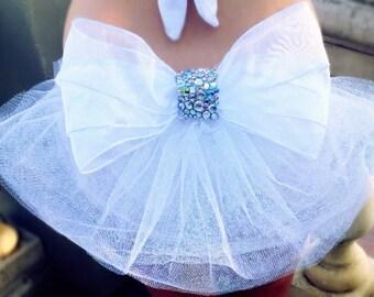 Glitzy Glam Bride Veil Tail
