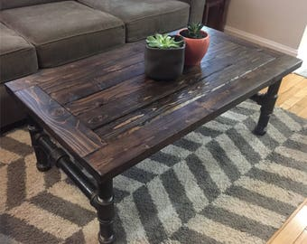 heavy coffee table | etsy
