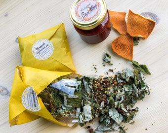 Strawberry citrus herb tea from Siberia