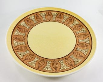 Anchor Hocking Honey Gold Large Chop Plate Round Platter Yellow and Orange Onion 12 Inch