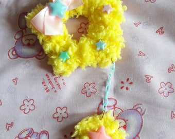 Fluffy Star (yellow)