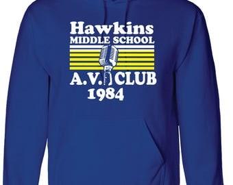 Hawkins Middle School AV Club Hoodie