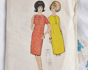 Vintage 1960s dress pattern, Blackmore 9331, size bust 36 inches, 1960s