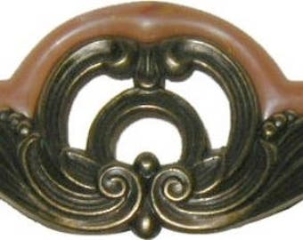 "Art Deco, Waterfall Bakelite & Die Cast Drawer Pull, New Reproduction, 5-1/8"" W X 2-1/4"" H - WF-103"