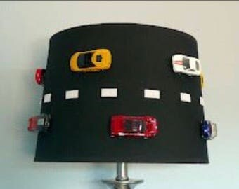 Race car lamp shade