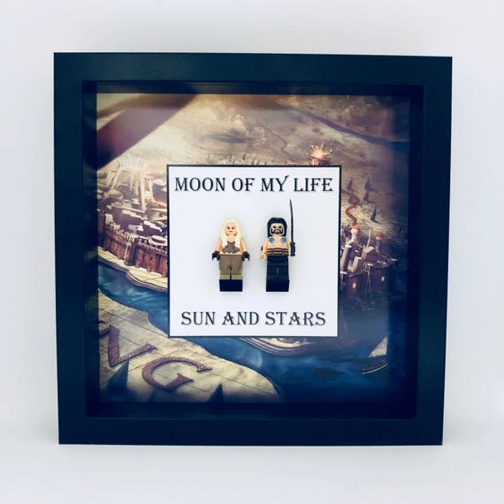 "Game Of Thrones ""Moon Of My Life, Sun And Stars"" 2PC Minifigure Frame"