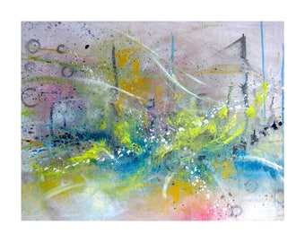 """Oil painting """"Abstract cityscape"""""""