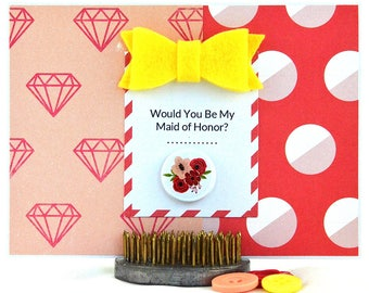 Maid Of Honor Proposal Card - Will You Be My Maid Of Honor - Maid Of Honor Request - Honor Attendant - Asking Maid Of Honor - One Of A Kind
