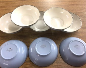 "Franciscan China ""Twilight"" Fruit Bowls ~ New ~ Lot of 8"