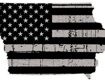 Iowa State (N16) Distressed Flag Vinyl Decal Sticker Car/Truck Laptop/Netbook Window