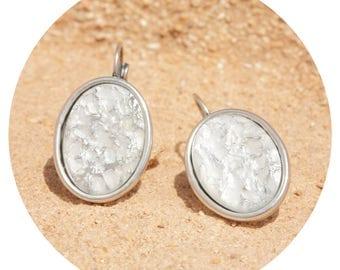 artjany earring white patina silver