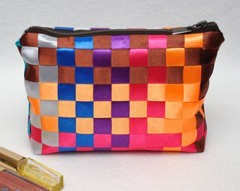 Gift for women gift|for|her Makeup bag make up organizer Cosmetic bag Womens Gift ideas Travel Tote Rainbow bag Cosmetic case Cosmetic pouch