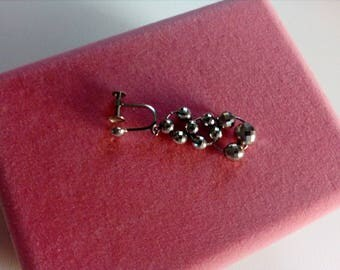 Single Platinum  long earring