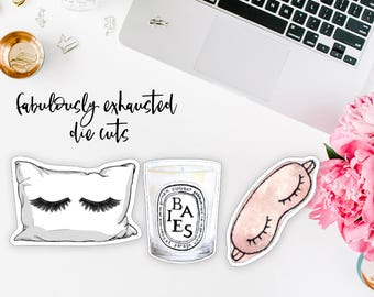 Fabulously Exhausted Die Cut Set