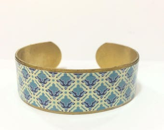 "Bracelet ethnic ""Retro"" wide-protected paper - brass"