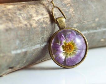 Purple Wild flower in Resin