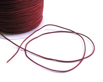 5 m wire braided chocolate brown nylon 1 mm
