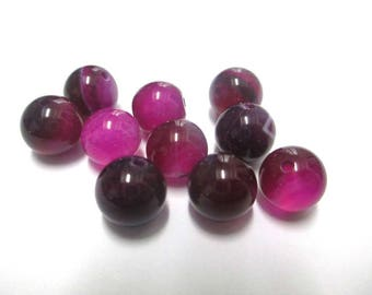 shades 10 striped agate beads 8 mm