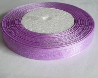 1 organza Ribbon Spool Purple 12mm to 45 meters