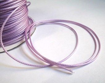 5 m thread cord waxed lilac polyester 1 mm