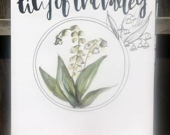 Lily of the valley print 11x14in!