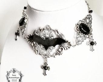 Mistress of the dark choker-bat choker-gothic choker-choker
