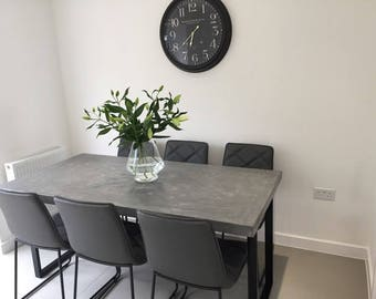 Bespoke concrete effect dining table