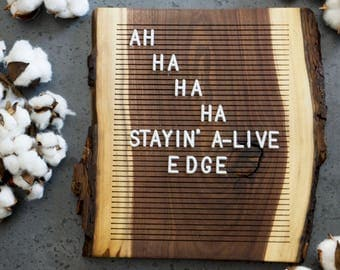 Wooden Letter Board - Live Edge Walnut - Letterboard, Message Board, Felt Board, Wall Decor, Handcrafted, Photo Prop, Mid-Century Modern