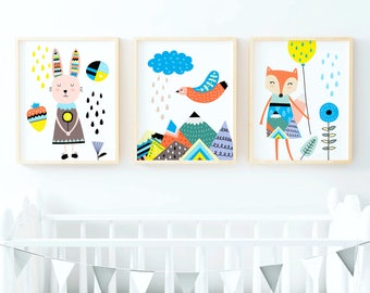 Kids room art | Etsy