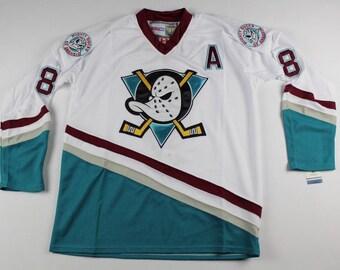 2bf7935ba32 ... denmark 90s deadstock new anaheim mighty ducks teemu selanne hockey jersey  vintage anaheim mighty ducks hockey ...