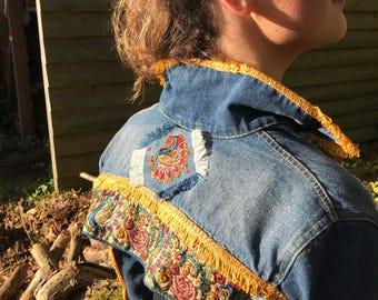 Patty Tacket - Reworked Bolero embellished denim jacket