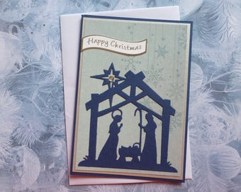 Nativity Christmas Card 1593 FREE SHIPPING