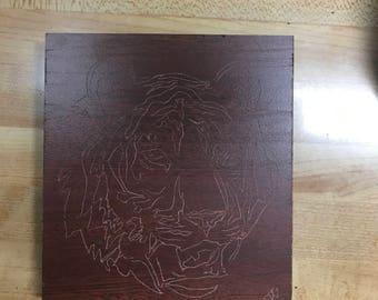 Tiger Engraving