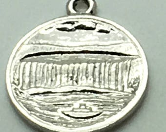 Niagara Falls Sterling Silver Charm Maid Of The Mist Canada Ontario Canadian Souvenir Travel Memorabilia Charm For Bracelet