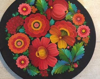 Huge russian wooden plate from 80-s