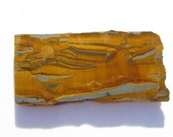 Golden Tiger's eye with Hematite rough slab Landscape Tiger Eye slab Tigers eye jewelry Tigers eye specimen