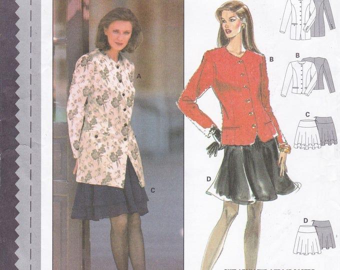 FREE US SHIP  Burda 3613 Sewing Pattern Skirt  Jacket Princess Seams Size 8/18 Size 8 10 12 14 16 18 Bust 31 32 34 36 38 40 Uncut