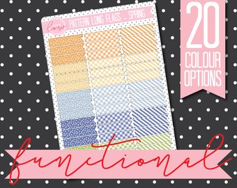 PATTERNED LONG FLAGS - Functional Stickers - Planner Stickers Matt