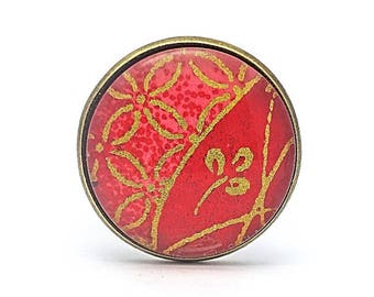Ring red fantasy - original jewelry